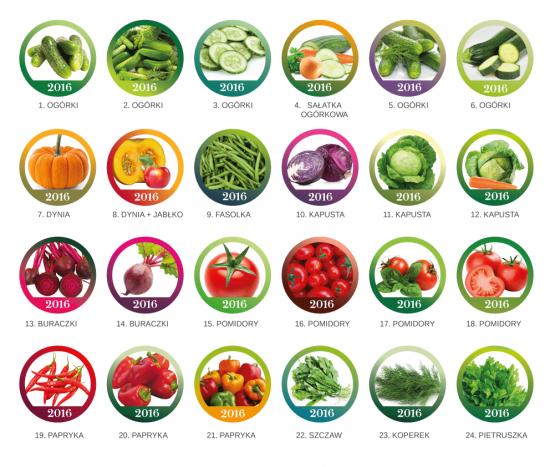 Etykietki - warzywa