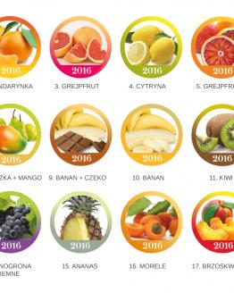 Etykietki - owoce egzotyczne