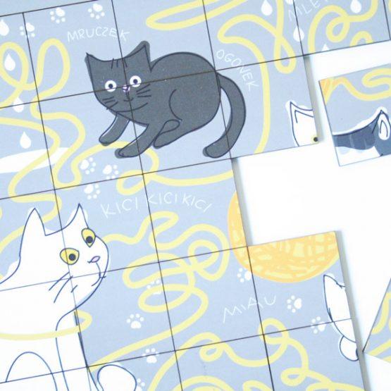 układanka z kotami