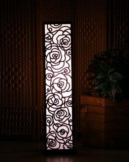 Dekoracyjna lampa - wzór - nitki