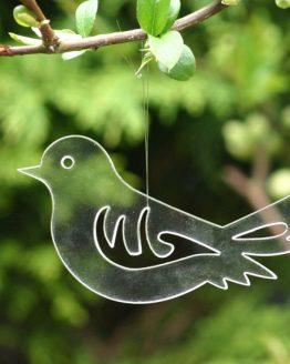 przezroczysty ptaszek - zawieszka