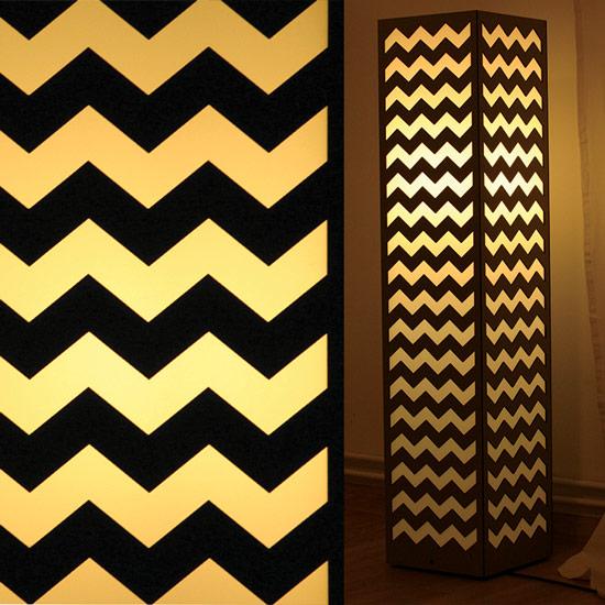 Ozdobna lampa z geometrycznym wzorem