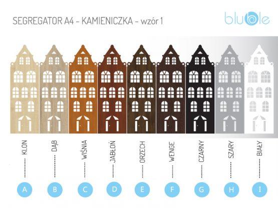 segregator A4 - kolory do wyboru