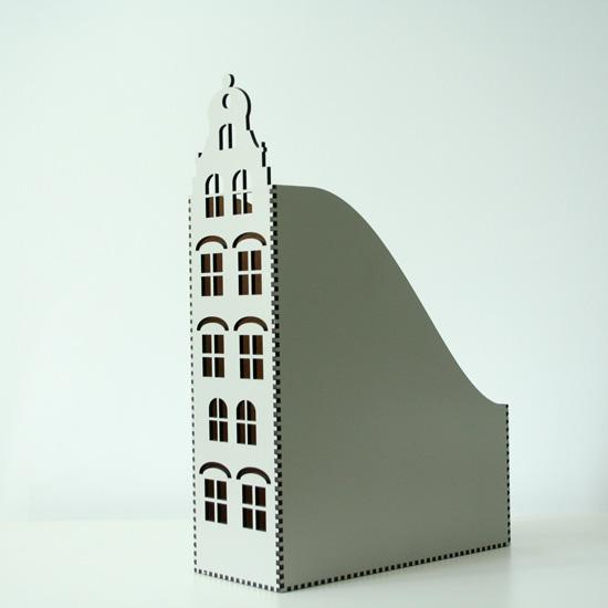 segregator A4 w kształcie kamieniczki