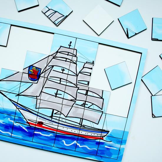 Puzzle - szczeciński żaglowiec