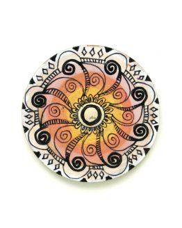 mages recznie malowany - mandala