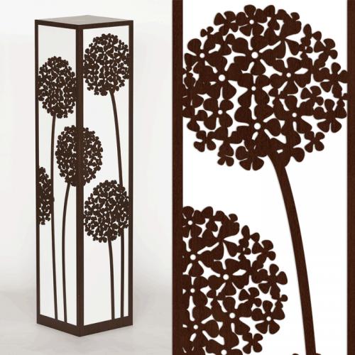 Dekoracyjna lampa stojąca - czosnek