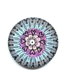 ręcznie malowany magnes na lodówkę - mandala
