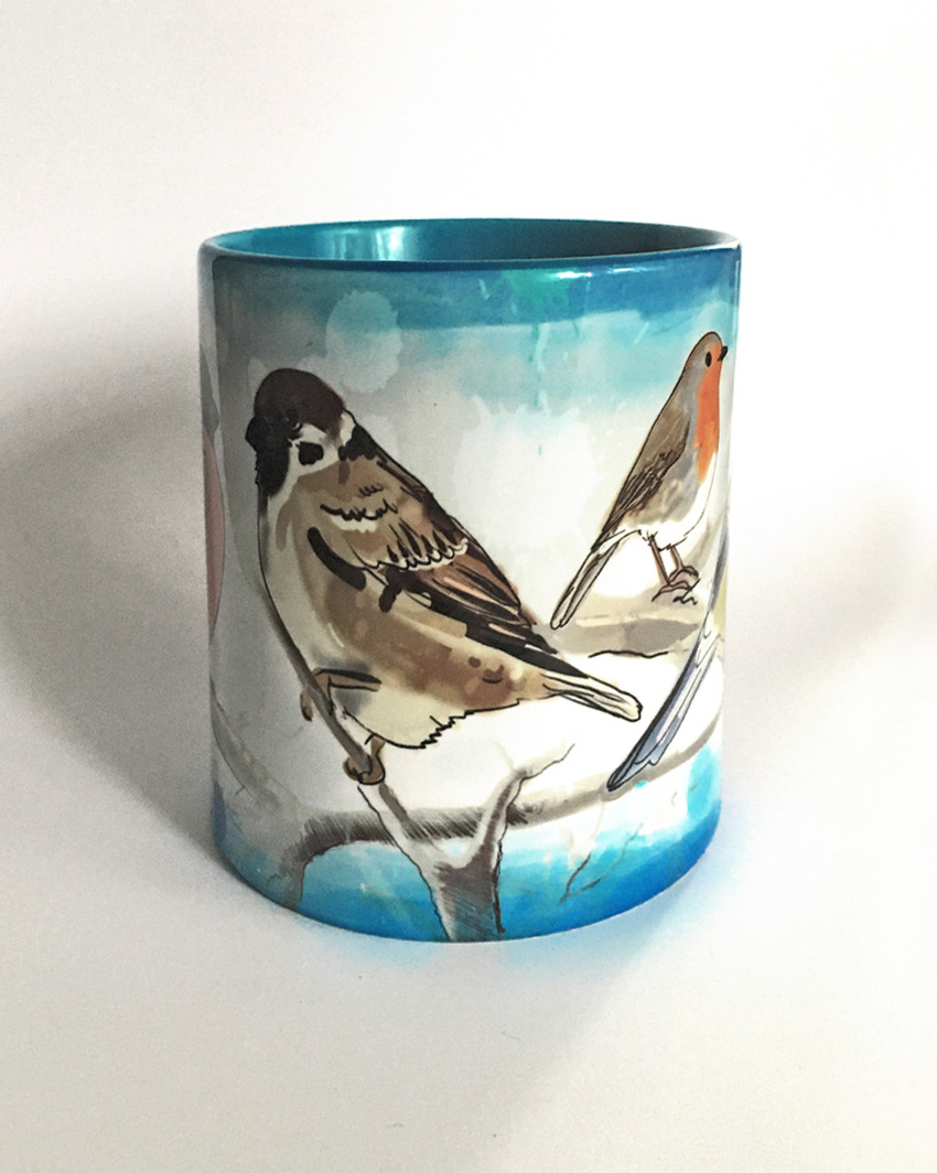 kubek - ptaki malowane