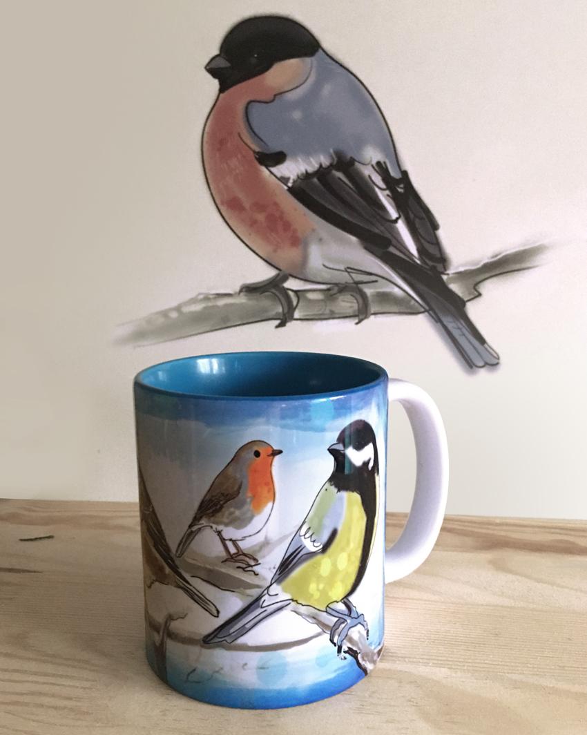 kubek - ptaki malowane - bluble.pl