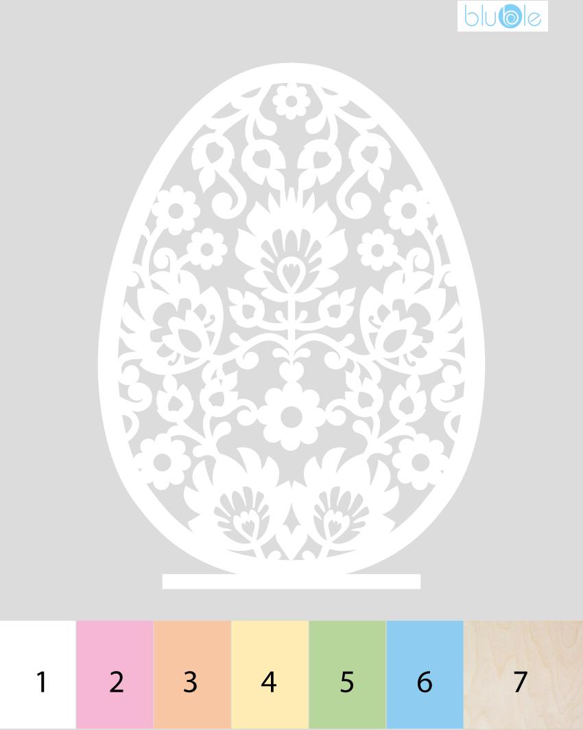pisanka - drewniana dekoracja